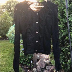 Free People Black Knit Cardigan